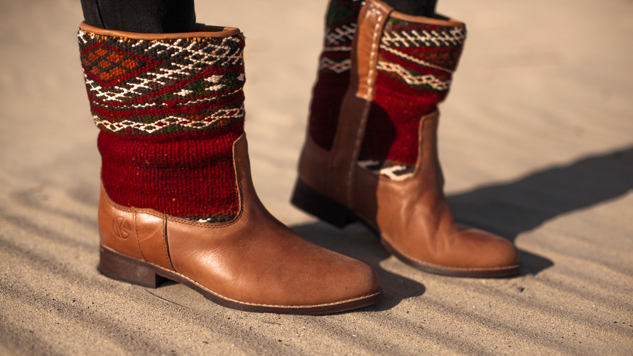Bohemian Summer Style with our Jimi kilim Boots