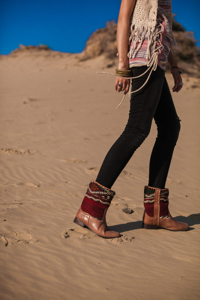 Bohemian Summer outfit inspiration with the Jimi kilim Boots