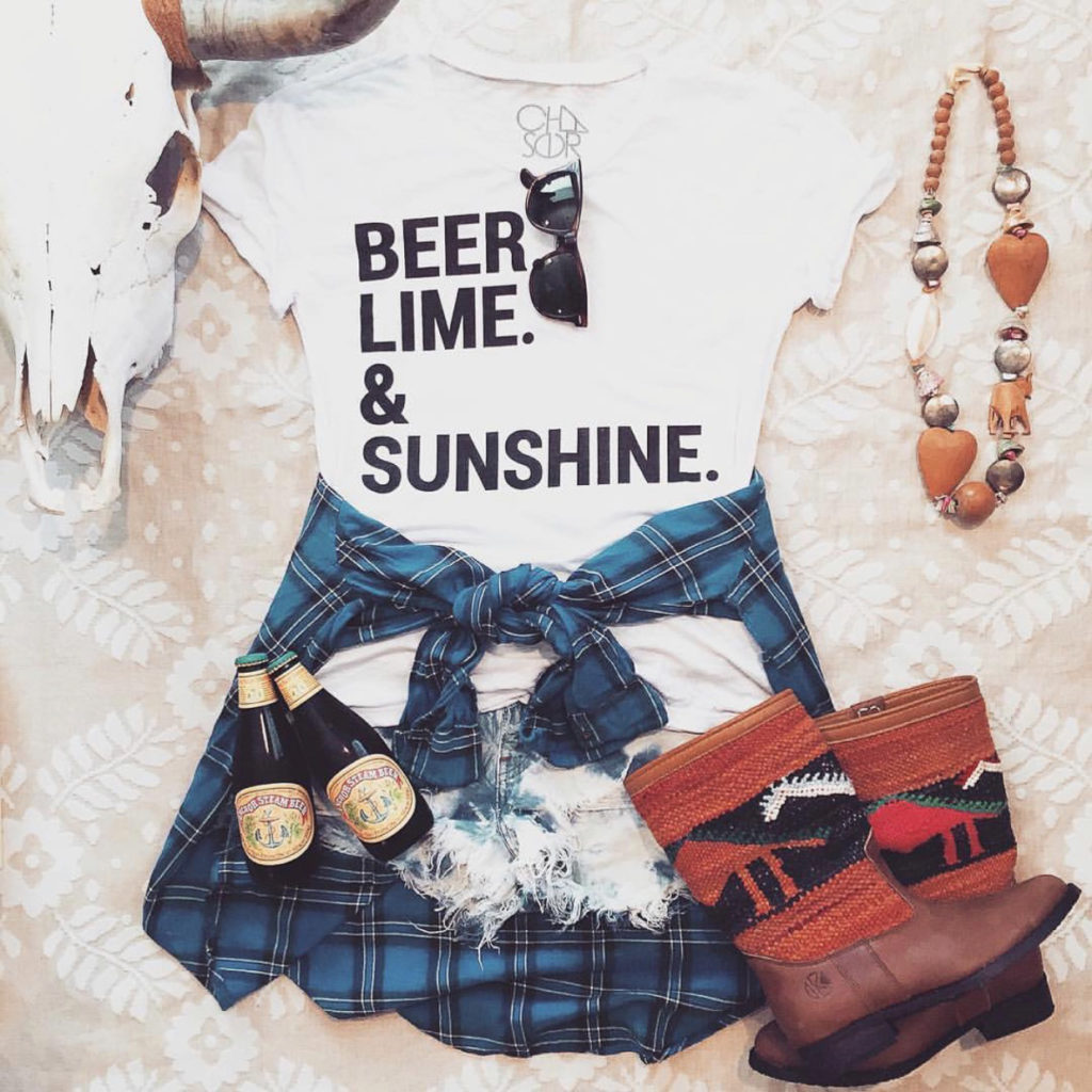 Eight Ways to Style Your Kilim Boots This Summer! Beer, lime & sunshine festival look