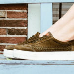 new favorite shoe, our beautiful handcrafted suede woven sneakers!