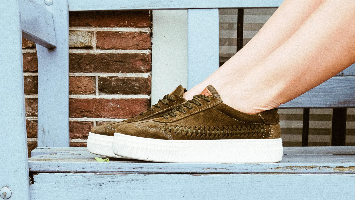 Meet Your New Favorite Suede Woven Sneaker