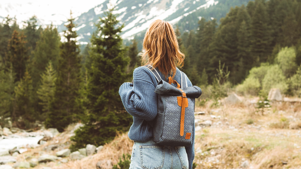 His and Hers Roll Top Backpacks for Endless Adventures!