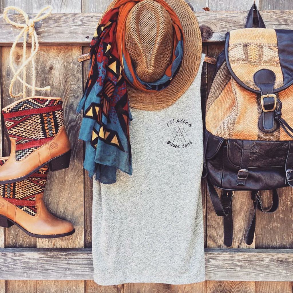 Eight Ways to Style Your Kilim Boots This Summer - to go on a camping adventure