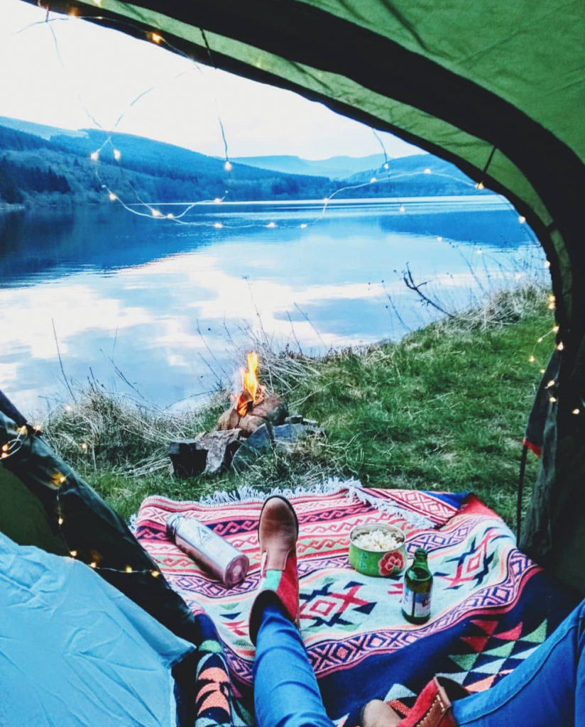 camping with our kilim accessories