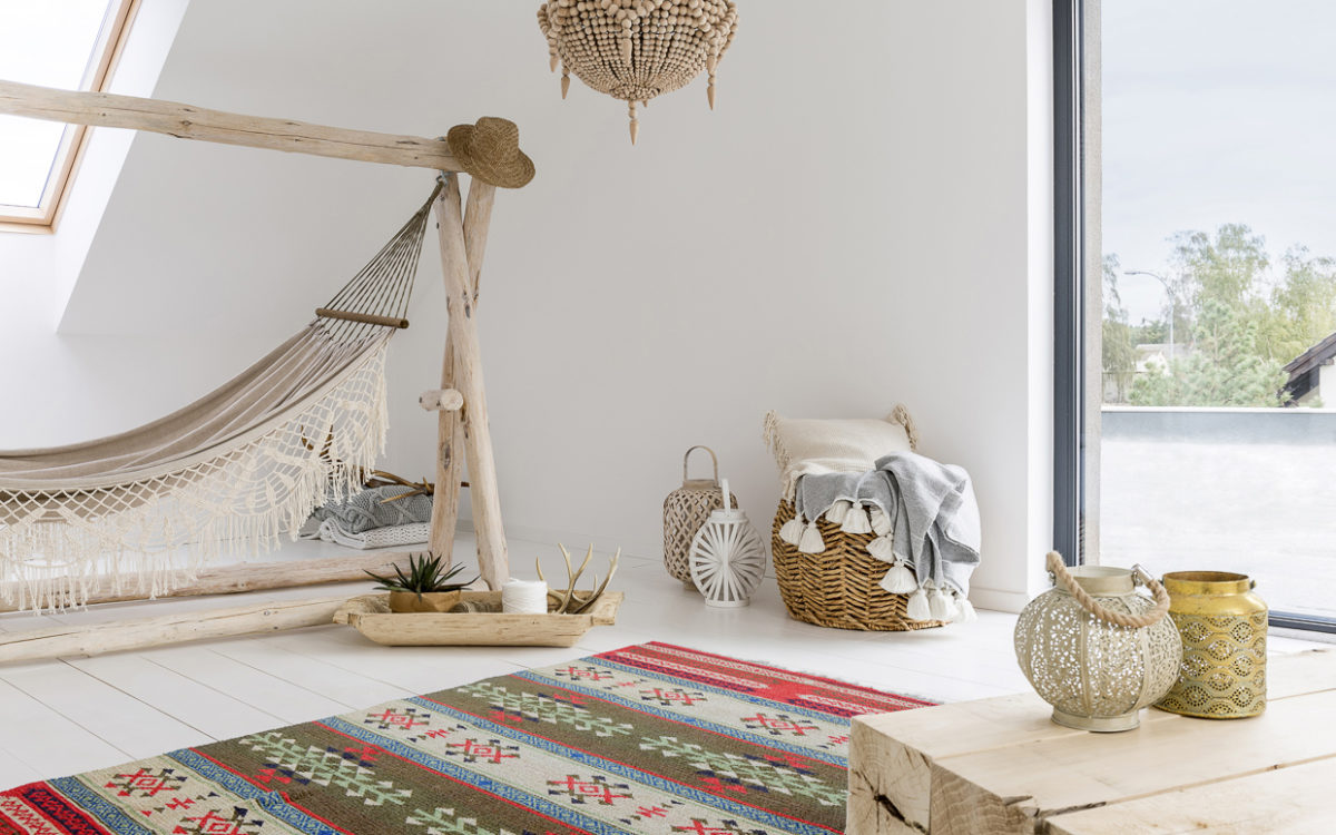 Impeccable Interiors featuring our kilim rugs