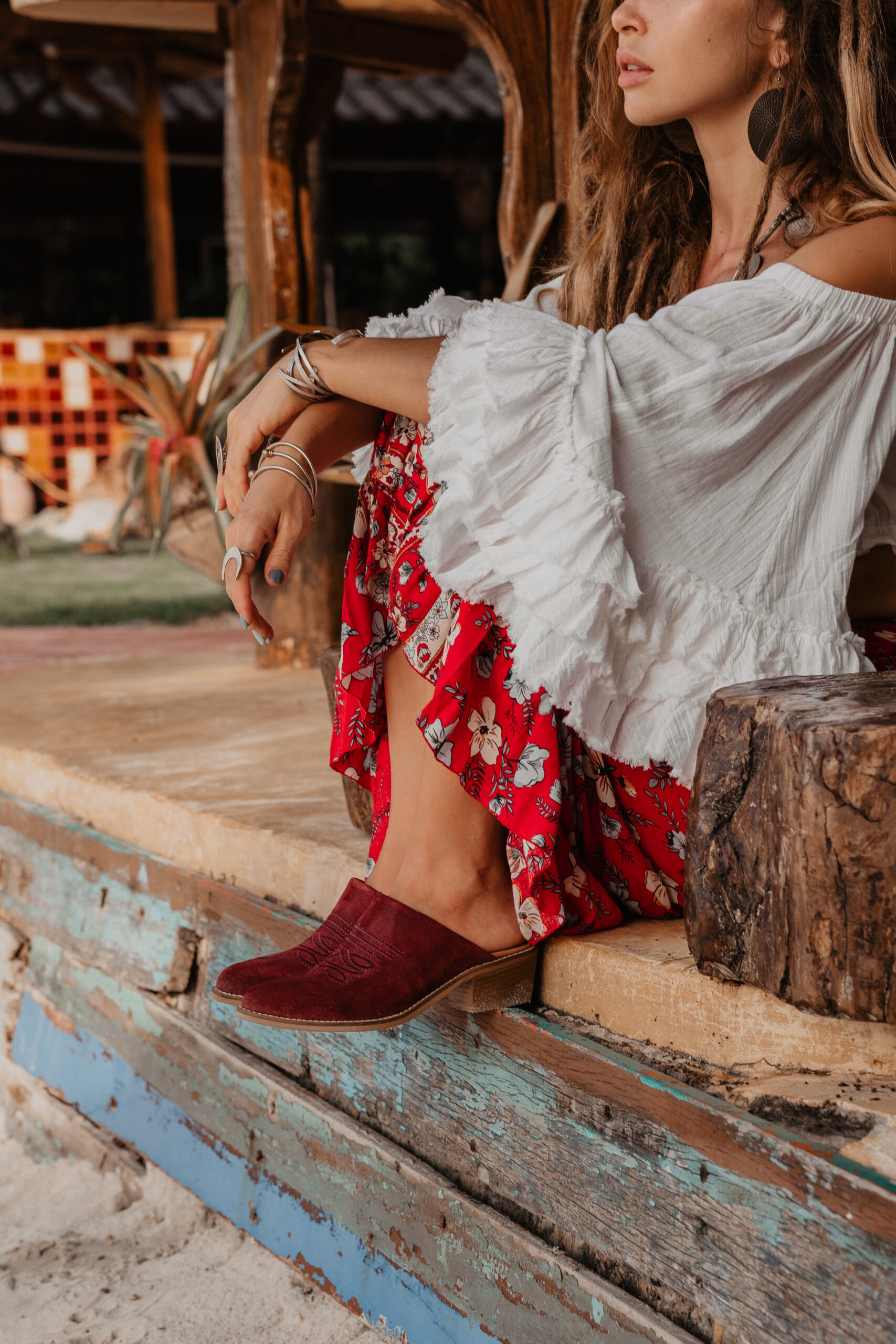 embroidered heeled mules