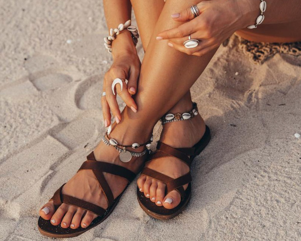 boho slippers and sandals
